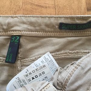 United Colors Of Benetton Jeans - UCofB LIght Beige Mid-Rise Jeggings